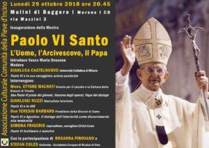 Locandina Conferenza Merone Paolo VI Mostra
